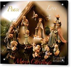 Peace Love Merry Christmas Acrylic Print