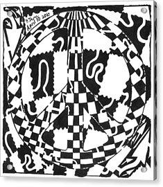 Peace Maze Acrylic Print by Yonatan Frimer Maze Artist