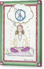 Peace Meditation Acrylic Print