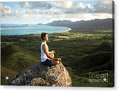 Peace On A Hillside Acrylic Print by Brandon Tabiolo - Printscapes