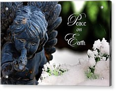 Acrylic Print featuring the photograph Peace On Earth Angel by Shelley Neff