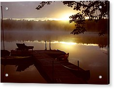 Peace On Lake Acrylic Print by Dennis Curry