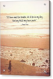 Acrylic Print featuring the photograph Peace by Peggy Hughes