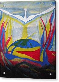 Peace Rising From Chaos Acrylic Print by CB Woodling