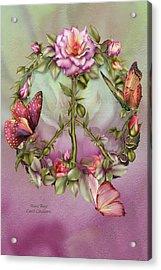 Peace Rose Acrylic Print by Carol Cavalaris