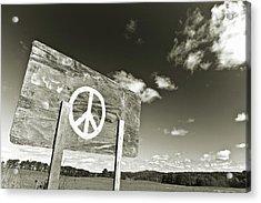 Peace Sepia Acrylic Print