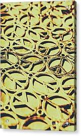 Peace Sign Patterns Acrylic Print