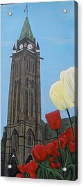 Acrylic Print featuring the painting Peace Tower by Betty-Anne McDonald