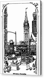 Peace Tower Parliament Hill Ottawa 1995 Acrylic Print by John Cullen