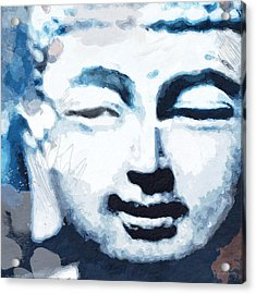 Peaceful Buddha 2- Art By Linda Woods Acrylic Print