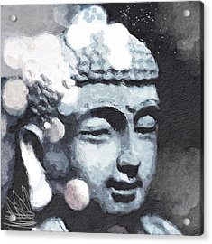 Peaceful Buddha 3- Art By Linda Woods Acrylic Print