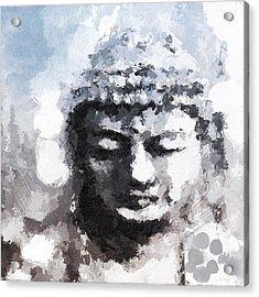 Peaceful Buddha- Art By Linda Woods Acrylic Print by Linda Woods