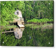 Peaceful Cabin Acrylic Print by Desiree Schmidt