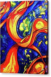 Acrylic Print featuring the painting Peaceful Coexistence by Rae Chichilnitsky