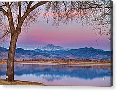 Peaceful Early Morning First Light Longs Peak View Acrylic Print