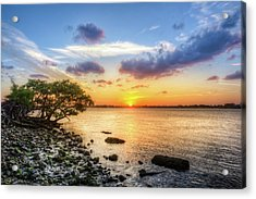 Acrylic Print featuring the photograph Peaceful Evening On The Waterway by Debra and Dave Vanderlaan