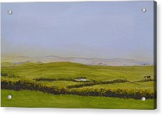 Peaceful Fields Of Ireland Acrylic Print