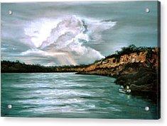 Peaceful Fishing Acrylic Print