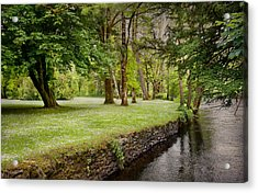Peaceful Ireland Landscape Acrylic Print by Cheryl Davis