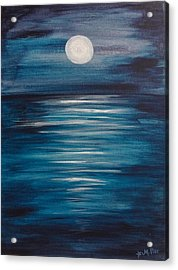 Peaceful Moon At Sea Acrylic Print