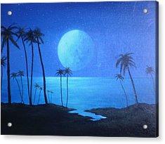 Peaceful Moonlit Night Acrylic Print by Michael Odom