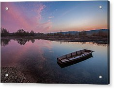 Peaceful Morning At River Acrylic Print