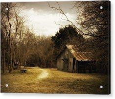 Peaceful Old Barn Acrylic Print by Iris Greenwell