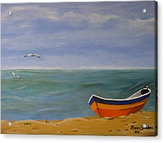 Acrylic Print featuring the painting Peaceful Place by Riana Van Staden