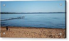 Grand Traverse Bay Beach-michigan  Acrylic Print by Joann Copeland-Paul