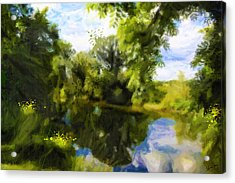 Peaceful Stream Acrylic Print by Chamira Young