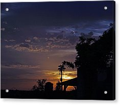 Peaceful Sunset Acrylic Print by James Granberry