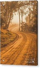 Peaceful Tasmania Country Road Acrylic Print