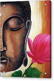 Peaceful Acrylic Print by Usha Rai