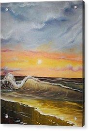 Peaceful Wave Acrylic Print by Scott Easom