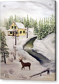 Peaceful Winter Day Acrylic Print by Timothy Smith