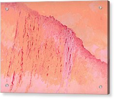 Peach And Pink Acrylic Print by Helene Henderson