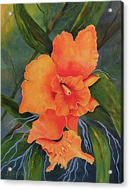 Peach  Blush Orchid Acrylic Print