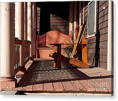 Acrylic Print featuring the photograph Peach Porch by Betsy Zimmerli