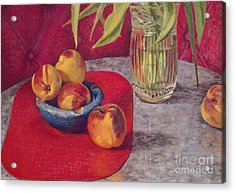 Peaches And Nectarines Acrylic Print by Kathryn Donatelli