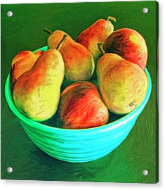 Peaches And Pears Acrylic Print by Dominic Piperata