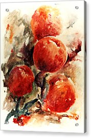 Peaches Acrylic Print by Rachel Christine Nowicki