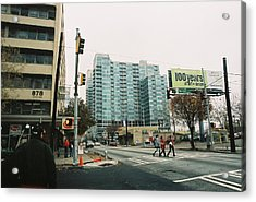Peachtree And 7th St 2006 Winter Acrylic Print