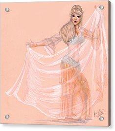 Peachy Dancer Acrylic Print by Scarlett Royal