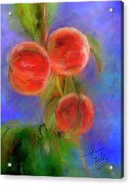 Peachy Keen Acrylic Print by Colleen Taylor
