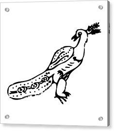 Peacock Bird Acrylic Print by Karl Addison