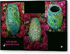 Peacock Bling Acrylic Print by Leslie Rhoades