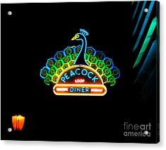 Peacock Diner In The Loop Acrylic Print