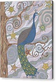 Peacock Dream's Acrylic Print