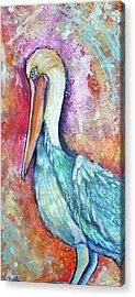 Peacock Envy Acrylic Print by Debi Starr