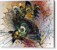 Peacock Fan Acrylic Print